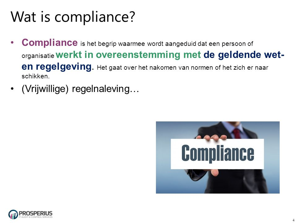 Wat is compliance