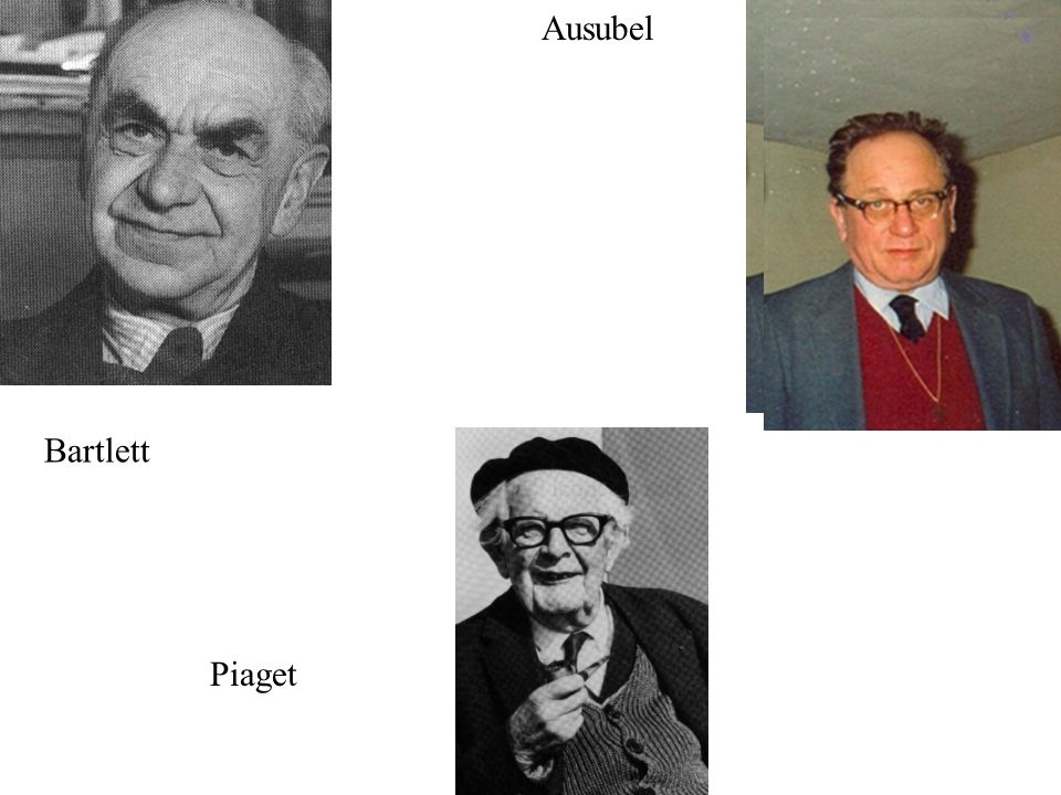 Ausubel C. Jean Piaget Bartlett Piaget