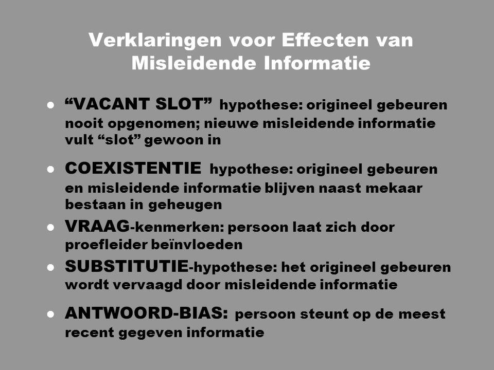 Verklaringen voor Effecten van Misleidende Informatie