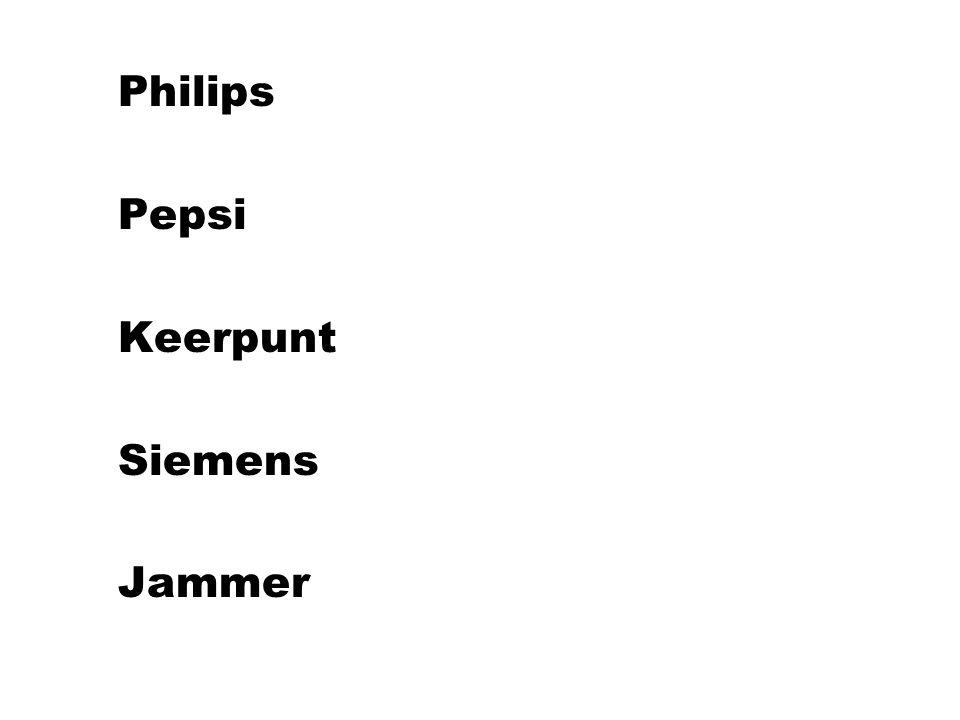 Philips Pepsi Keerpunt Siemens Jammer