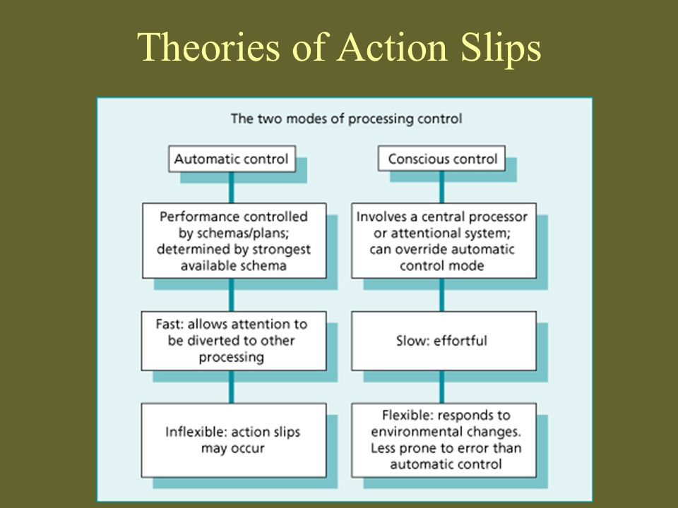 Theories of Action Slips