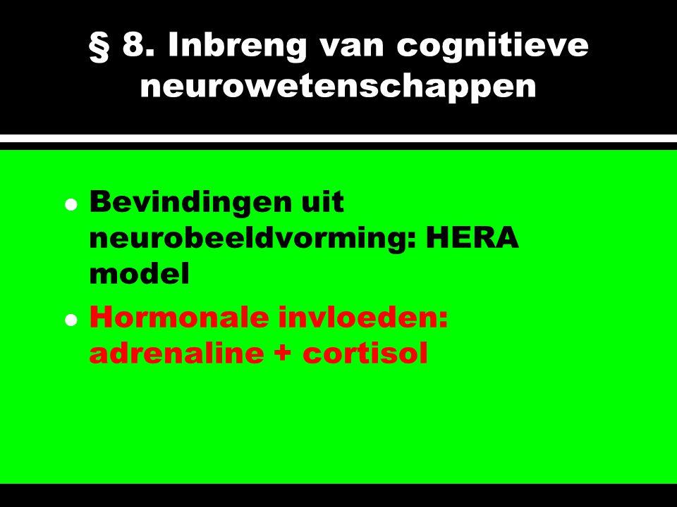 § 8. Inbreng van cognitieve neurowetenschappen