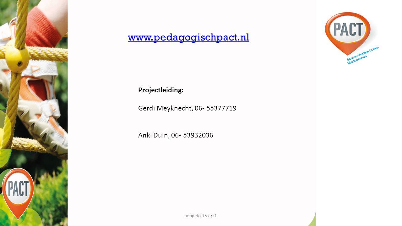 www.pedagogischpact.nl Projectleiding: Gerdi Meyknecht, 06- 55377719