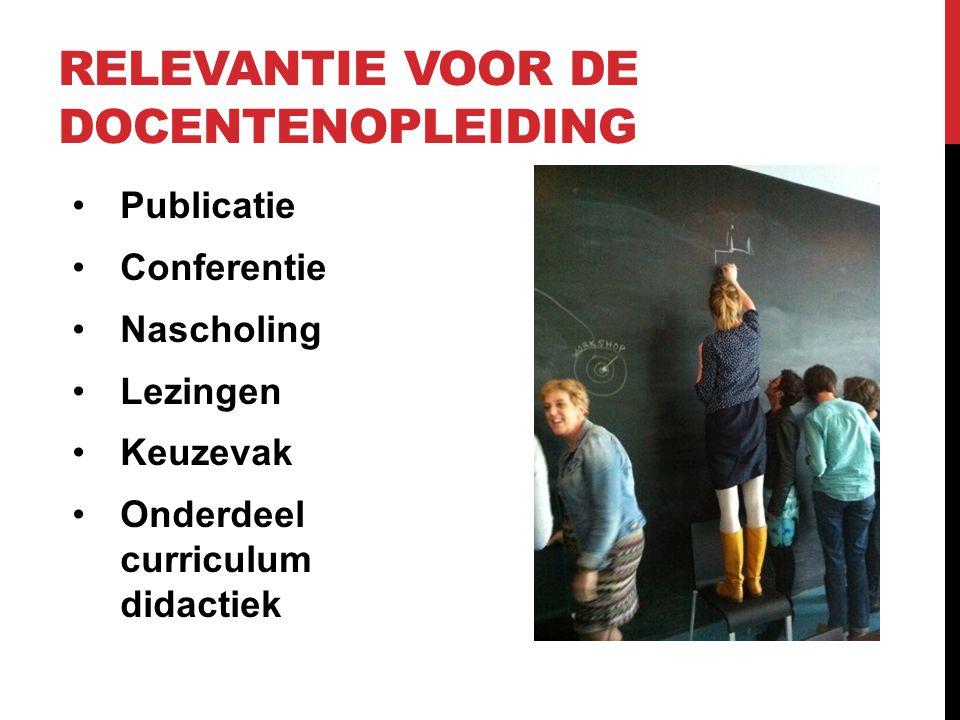 relevantie voor de docentenopleiding