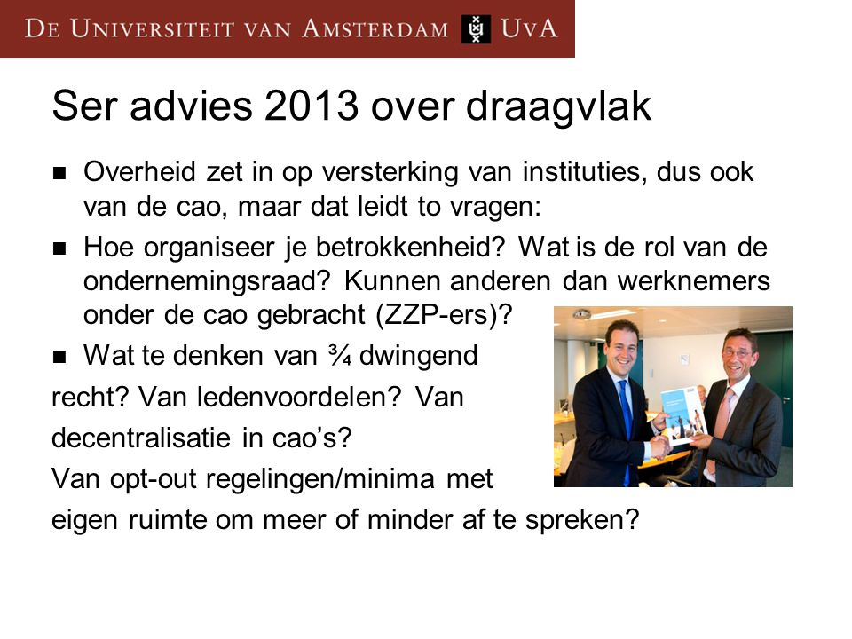 Ser advies 2013 over draagvlak