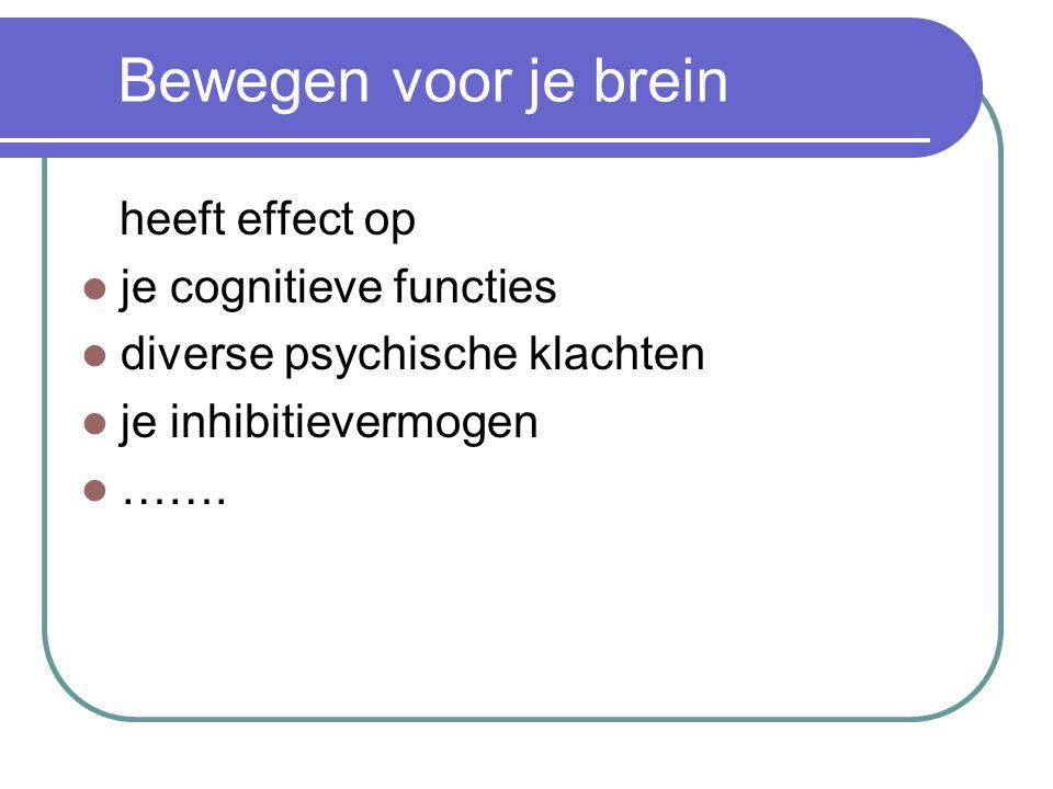 Bewegen voor je brein heeft effect op je cognitieve functies