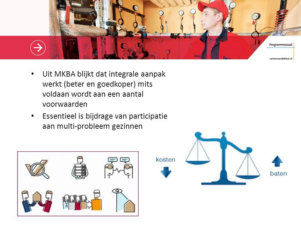 Uit MKBA blijkt dat integrale aanpak werkt (beter en goedkoper) mits voldaan wordt aan een aantal voorwaarden