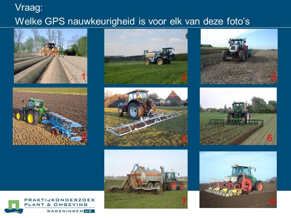 Vraag: Welke GPS nauwkeurigheid is voor elk van deze foto's wenselijk