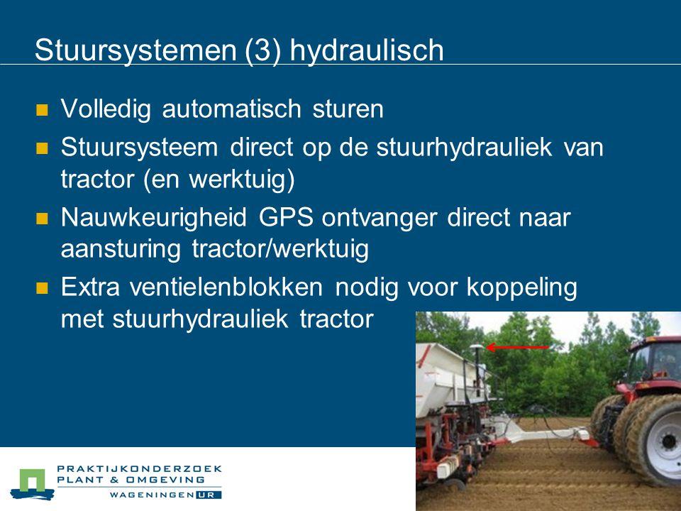 Stuursystemen (3) hydraulisch