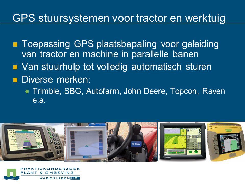 GPS stuursystemen voor tractor en werktuig