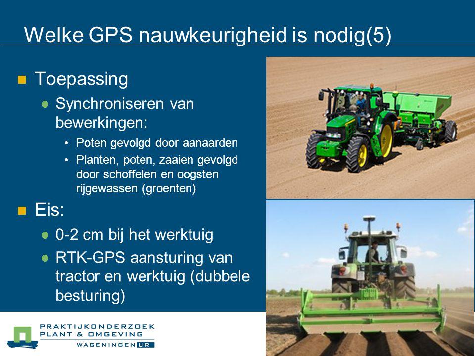 Welke GPS nauwkeurigheid is nodig(5)
