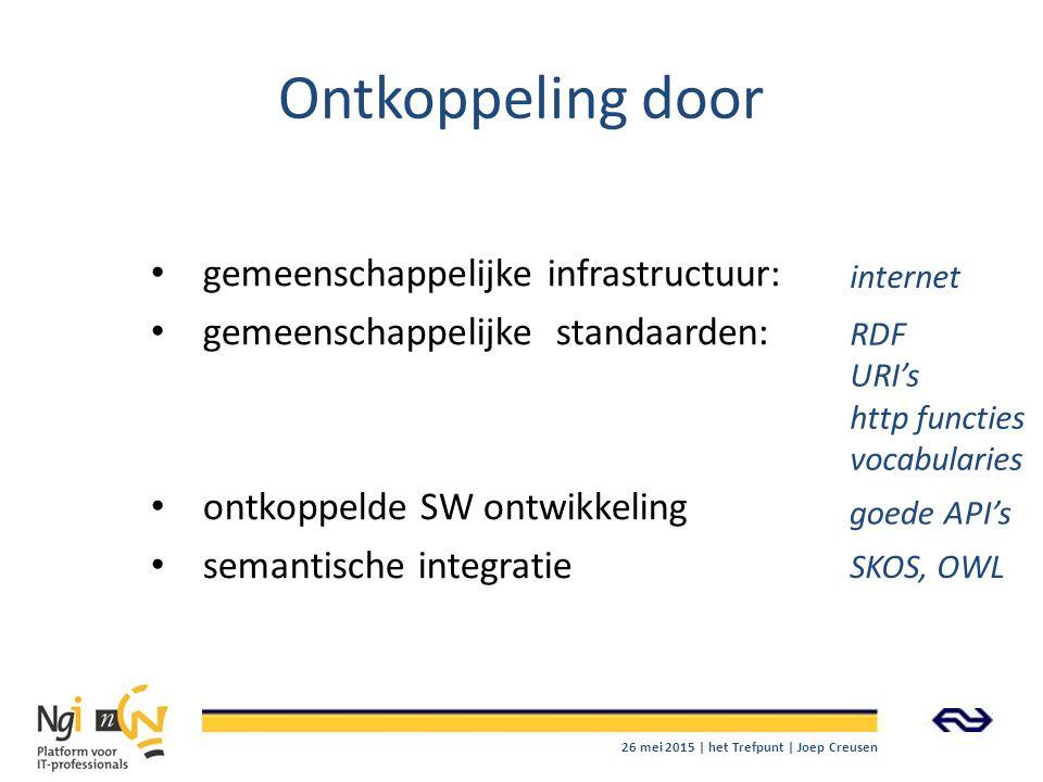 Ontkoppeling door gemeenschappelijke infrastructuur:
