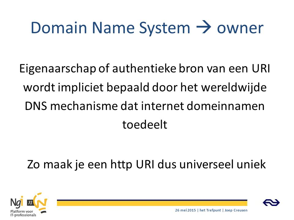 Domain Name System  owner