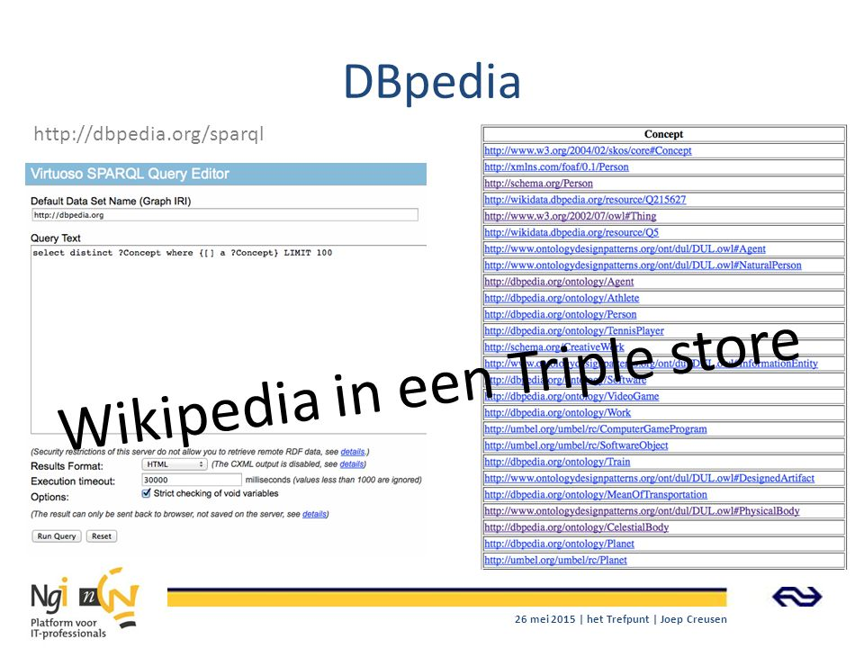 Wikipedia in een Triple store