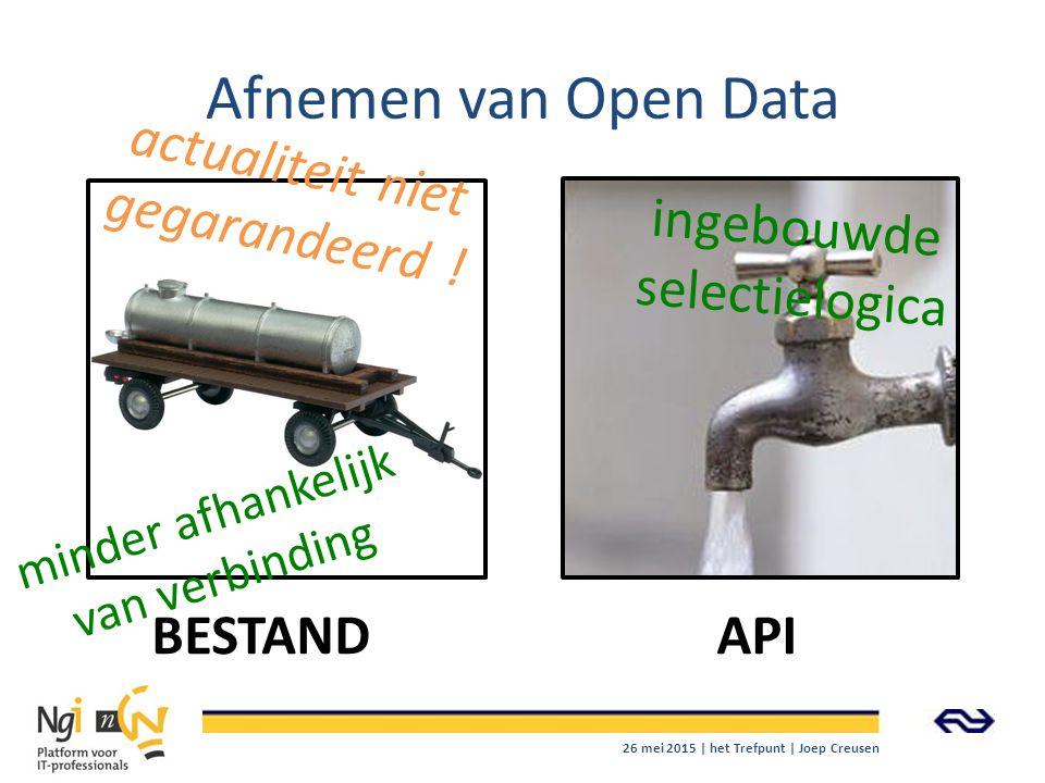 Afnemen van Open Data actualiteit niet gegarandeerd !