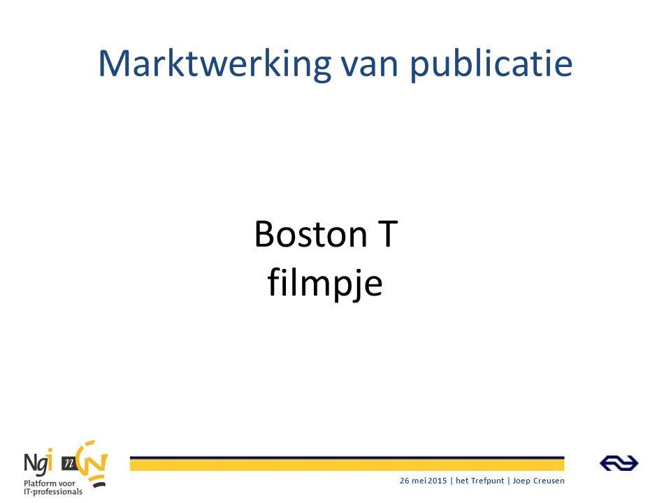 Marktwerking van publicatie