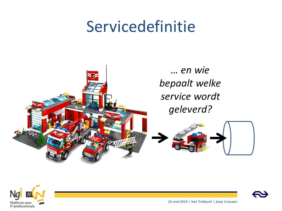 … en wie bepaalt welke service wordt geleverd