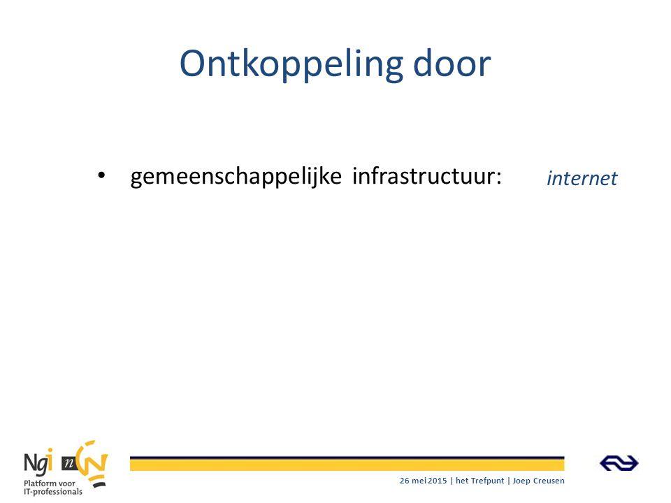 Ontkoppeling door gemeenschappelijke infrastructuur: internet
