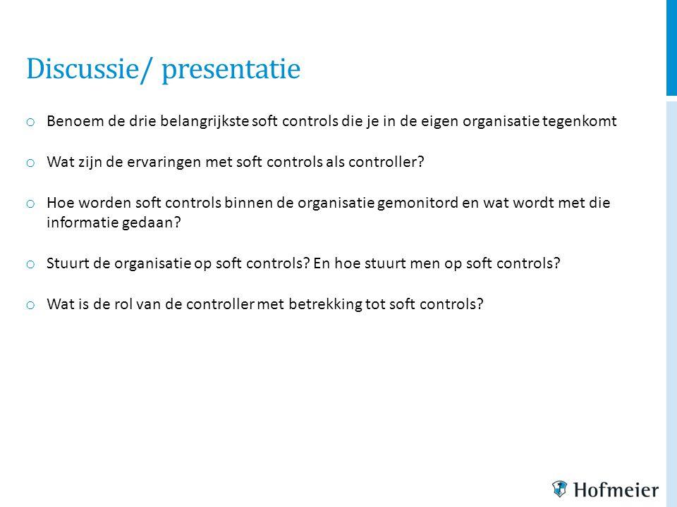 Discussie/ presentatie