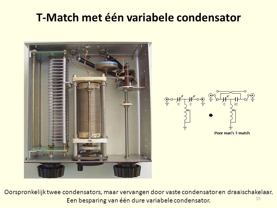 T-Match met één variabele condensator