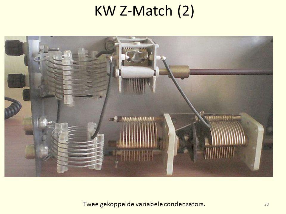 Twee gekoppelde variabele condensators.
