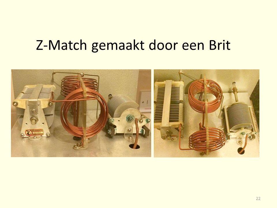 Z-Match gemaakt door een Brit