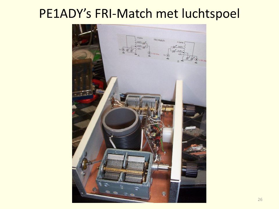PE1ADY's FRI-Match met luchtspoel