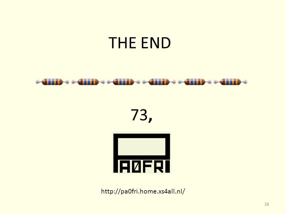 THE END 73, http://pa0fri.home.xs4all.nl/