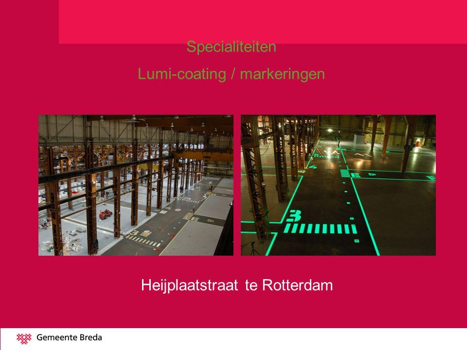 Lumi-coating / markeringen