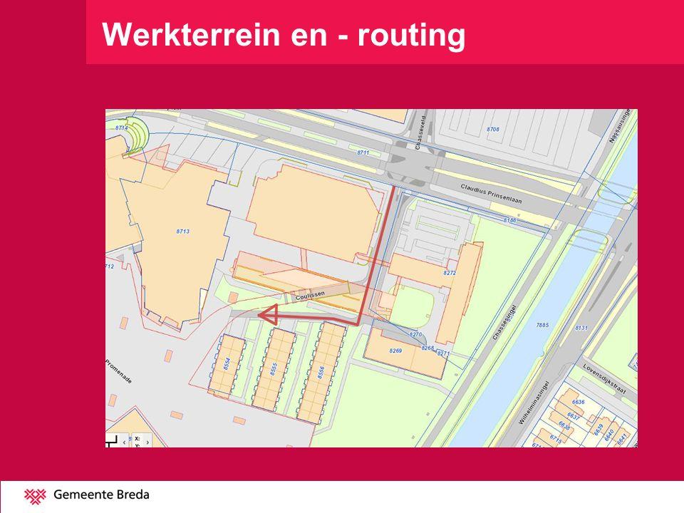 Werkterrein en - routing