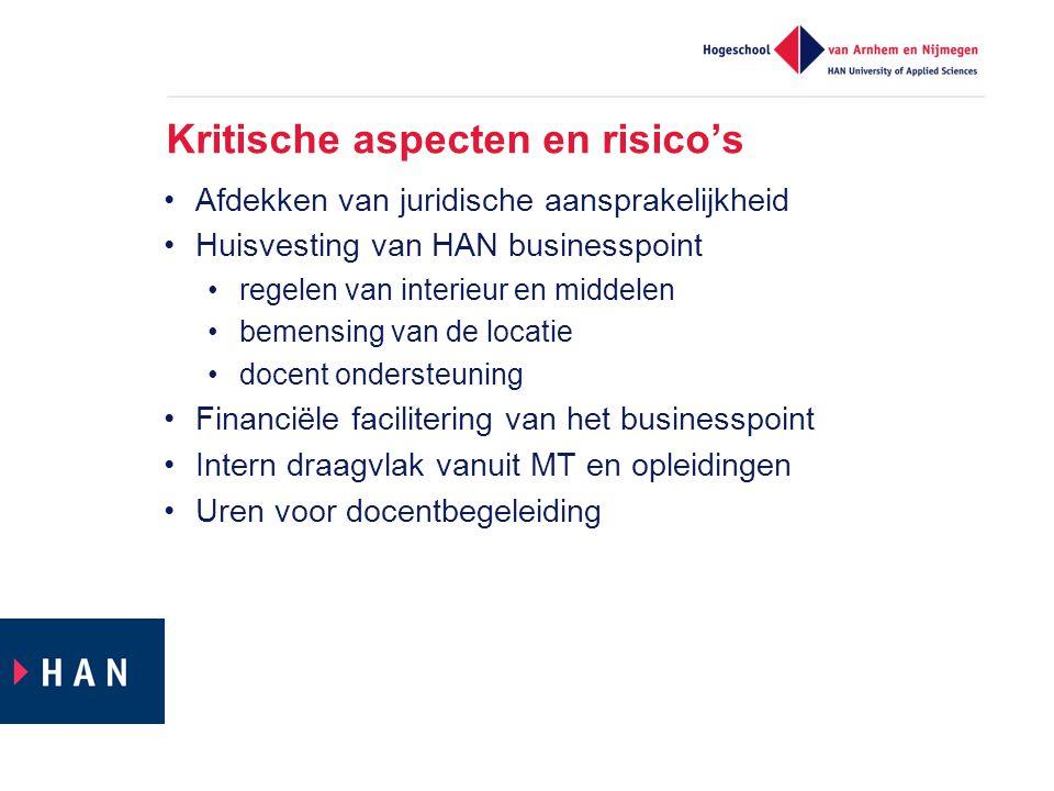 Kritische aspecten en risico's