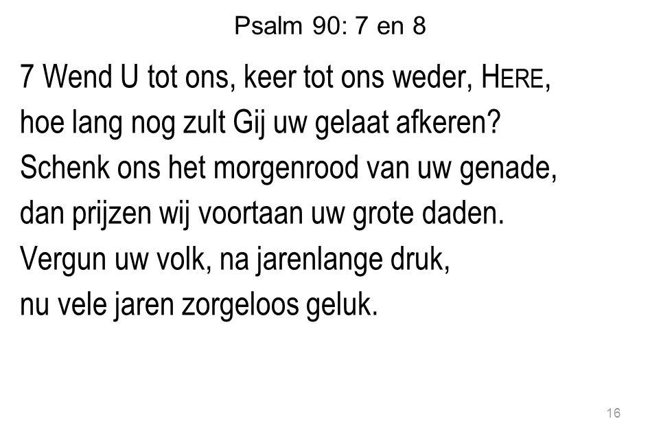 Psalm 90: 7 en 8