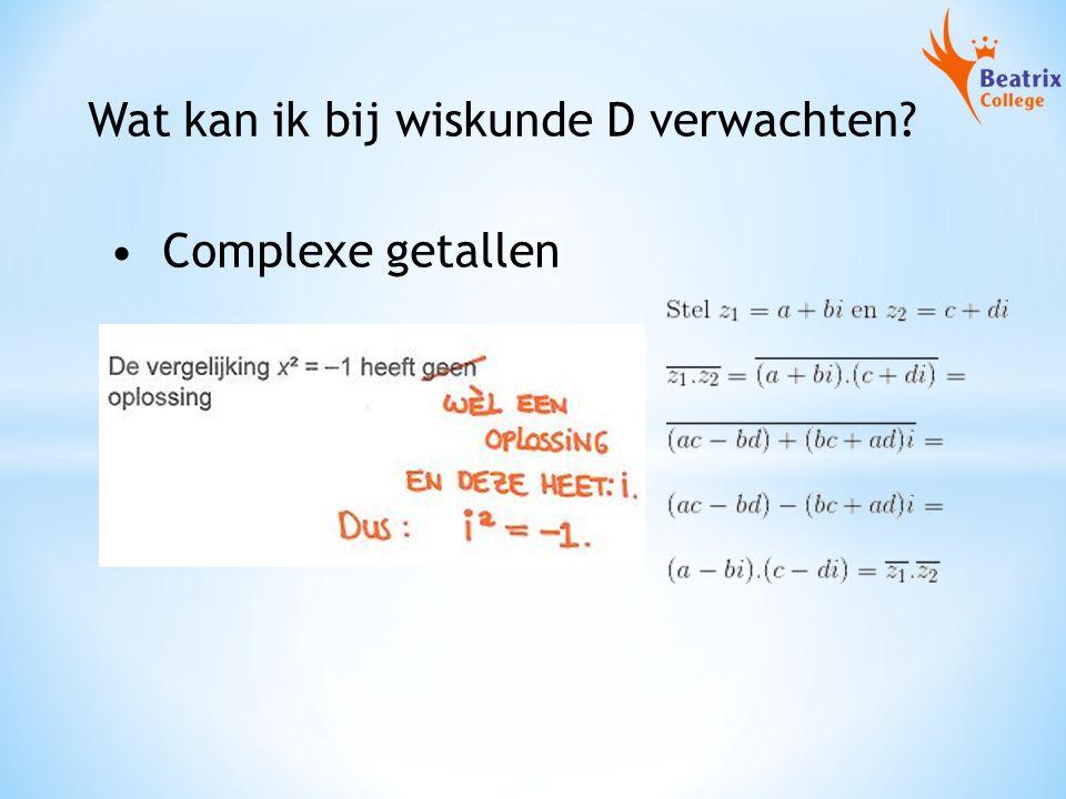 Wat kan ik bij wiskunde D verwachten