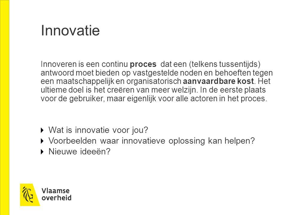 Innovatie Wat is innovatie voor jou