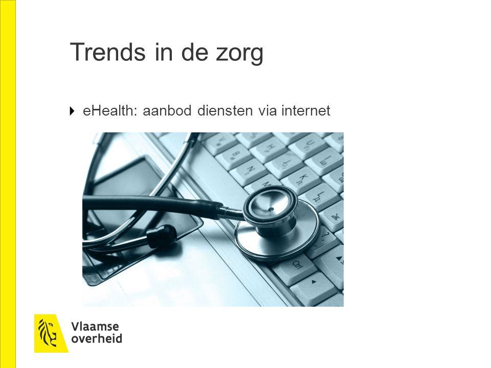 Trends in de zorg eHealth: aanbod diensten via internet
