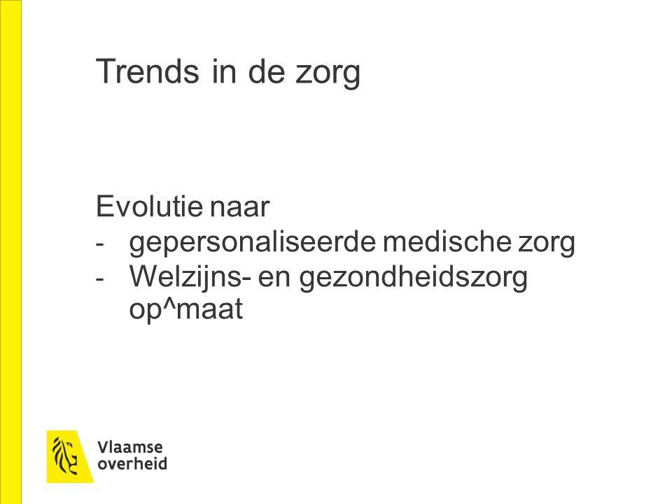 Trends in de zorg Evolutie naar gepersonaliseerde medische zorg