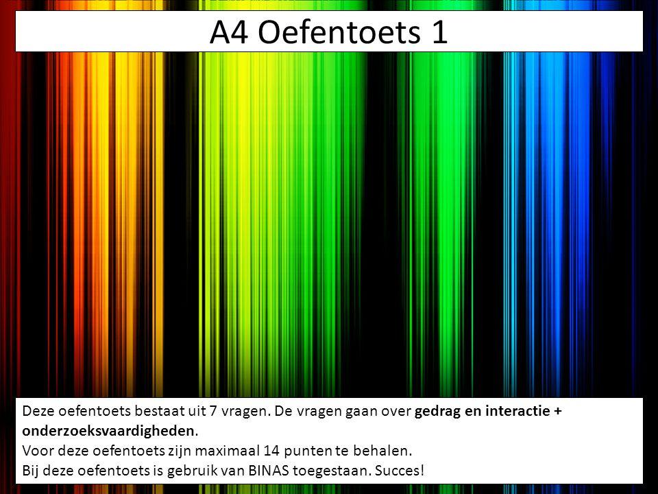 A4 Oefentoets 1