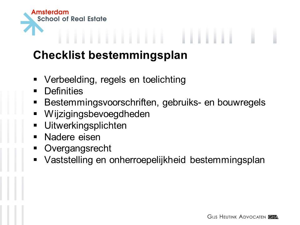 Checklist bestemmingsplan