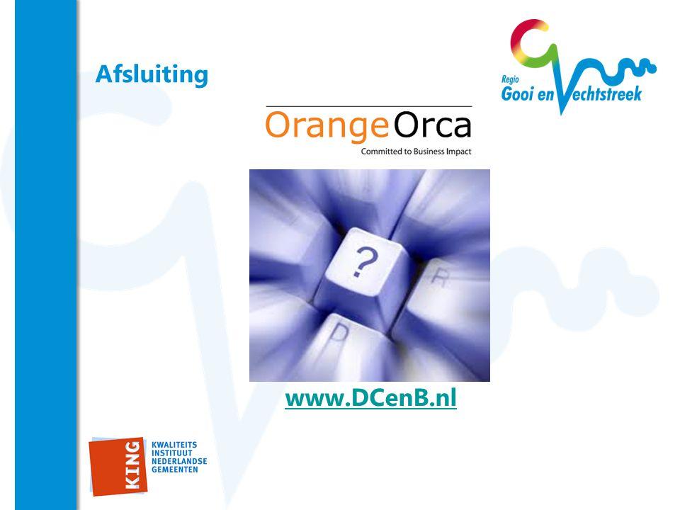 Afsluiting www.DCenB.nl