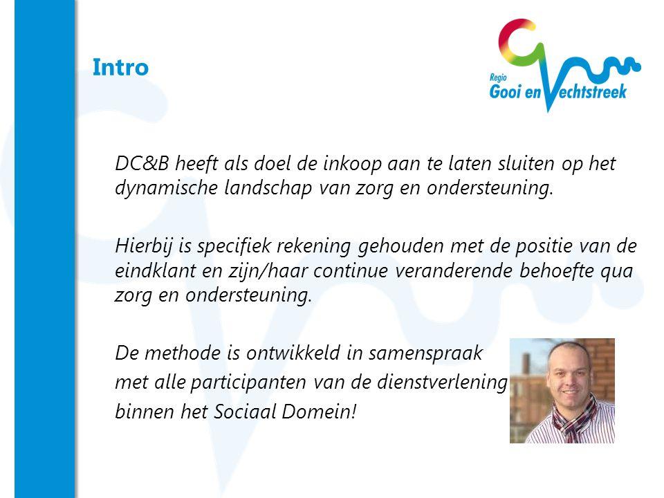 Intro DC&B heeft als doel de inkoop aan te laten sluiten op het dynamische landschap van zorg en ondersteuning.