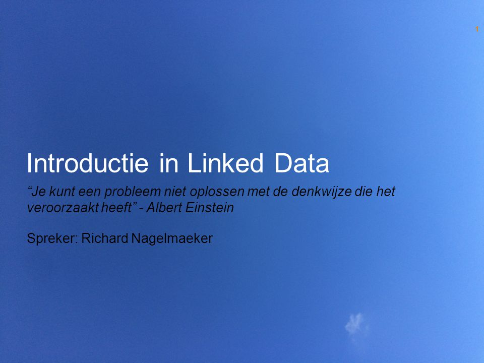 Introductie in Linked Data