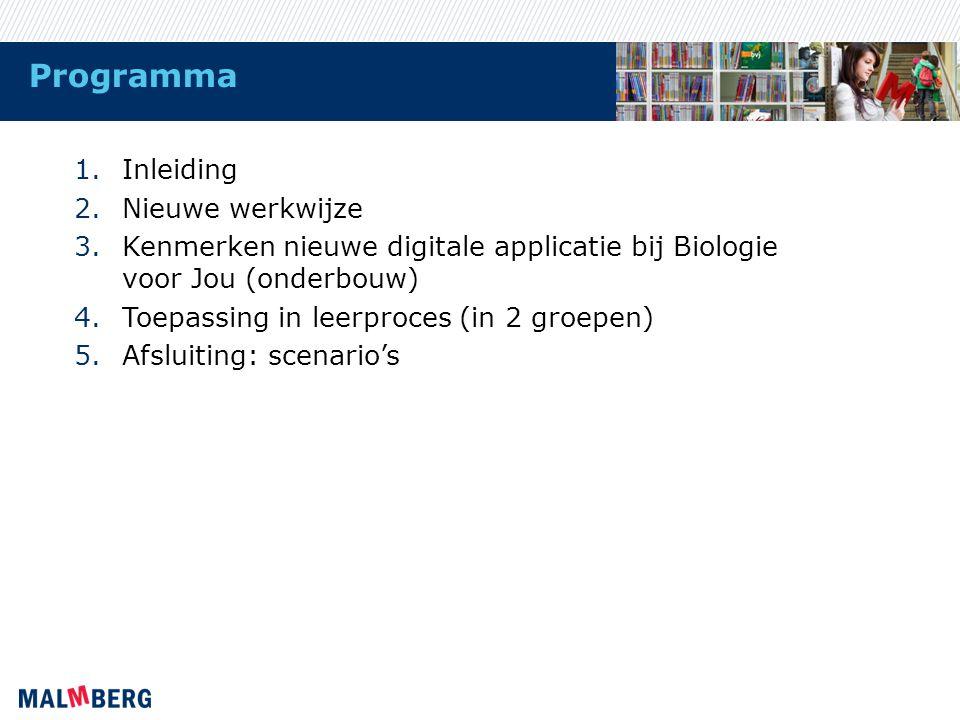 Programma Inleiding Nieuwe werkwijze