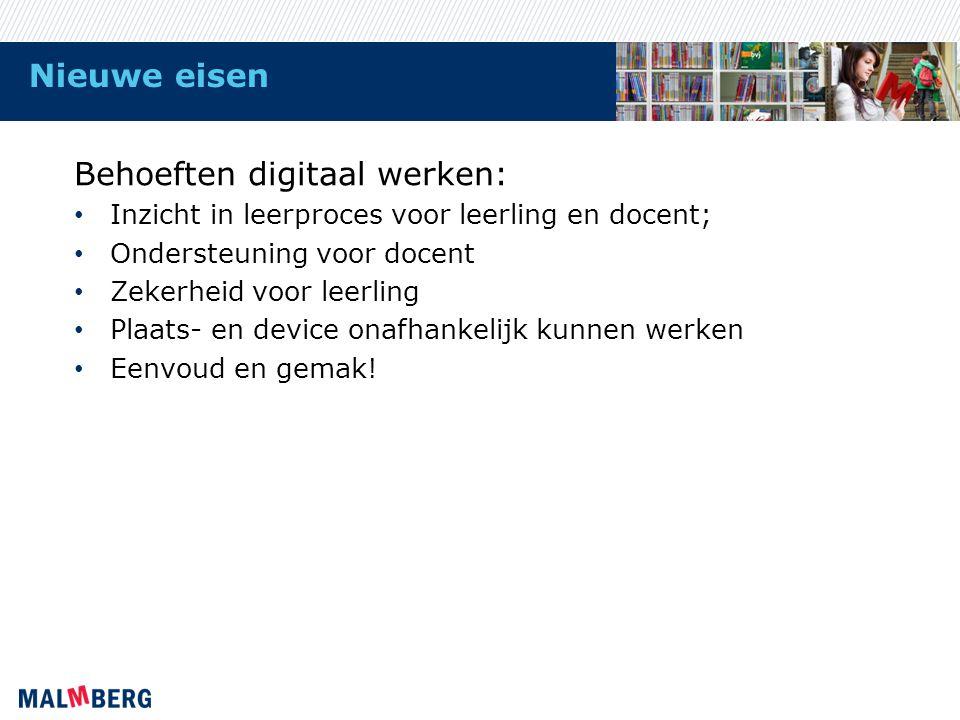 Behoeften digitaal werken: