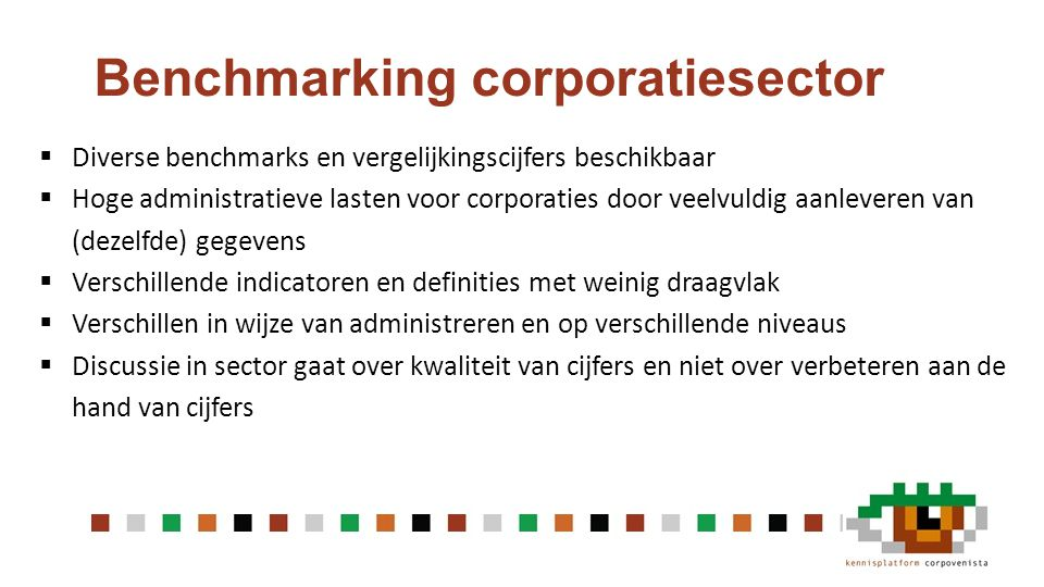 Benchmarking corporatiesector