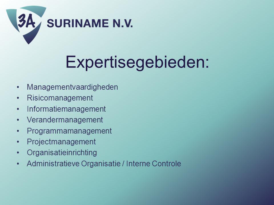 Expertisegebieden: Managementvaardigheden Risicomanagement