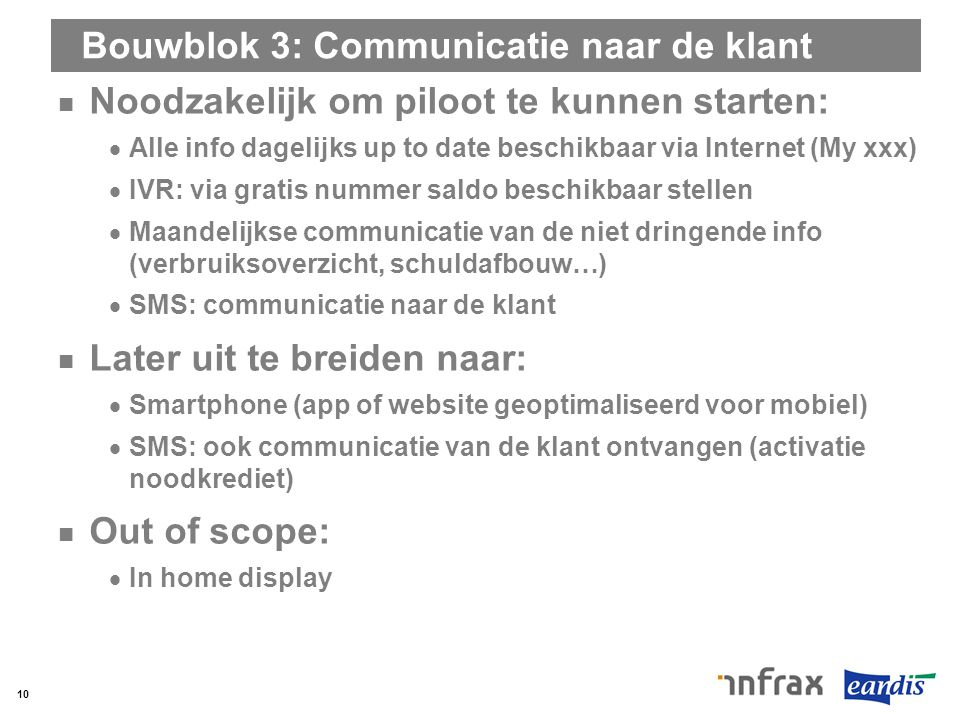 Bouwblok 3: Communicatie naar de klant