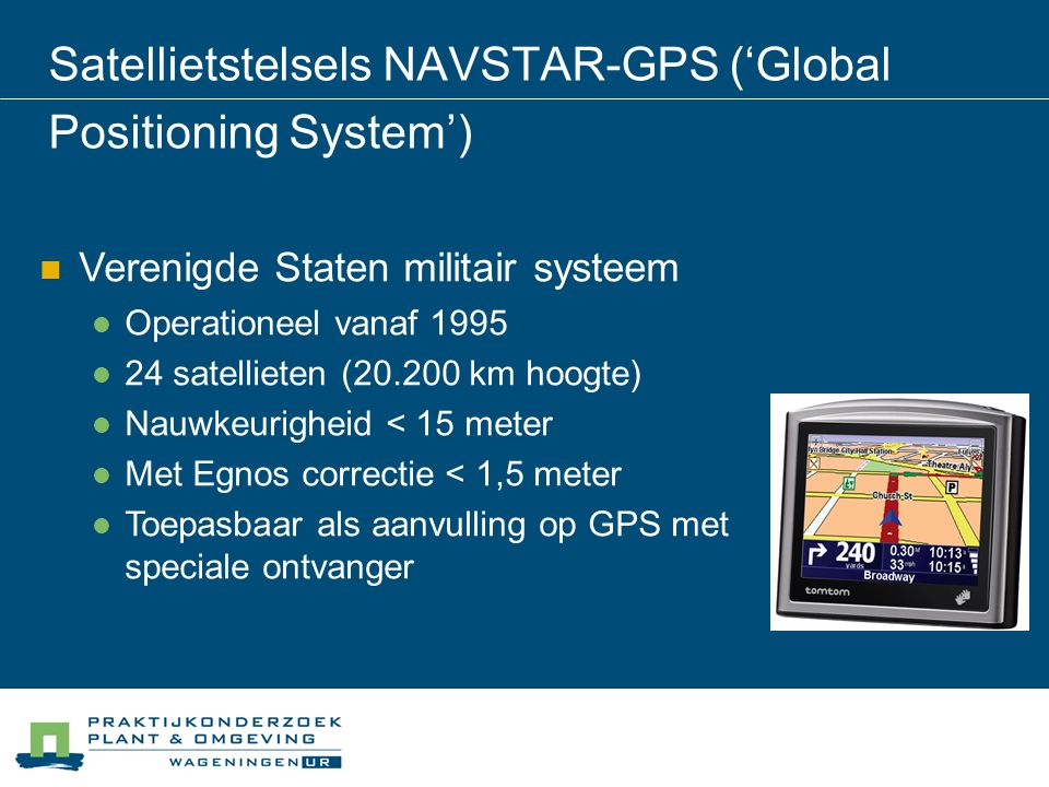 Satellietstelsels NAVSTAR-GPS ('Global Positioning System')