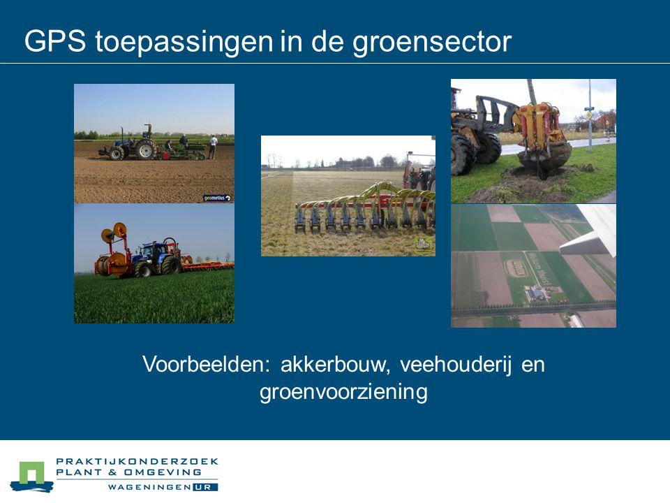 GPS toepassingen in de groensector