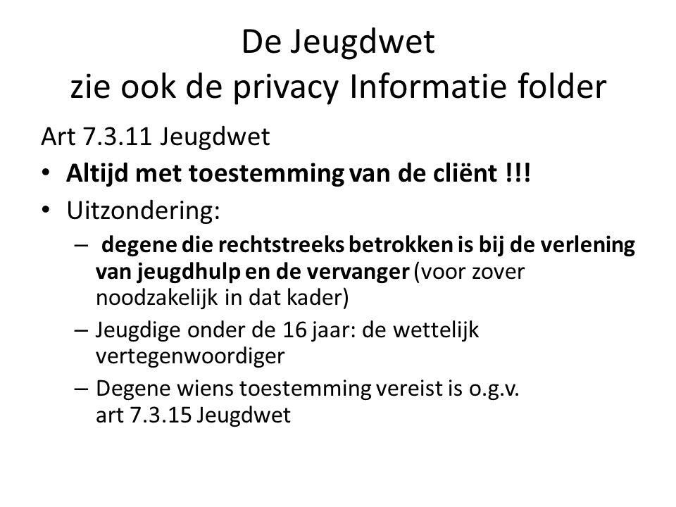 De Jeugdwet zie ook de privacy Informatie folder