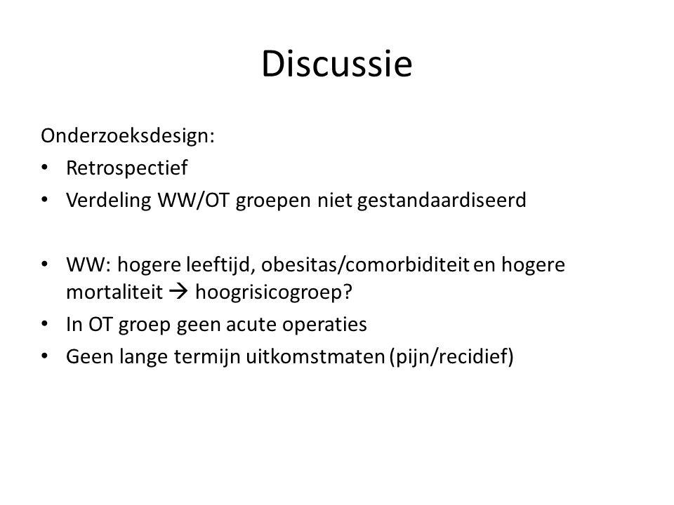 Discussie Onderzoeksdesign: Retrospectief